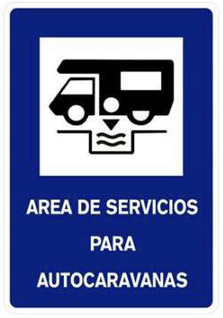 Sinal-Area de Servizos para Autocaravanas